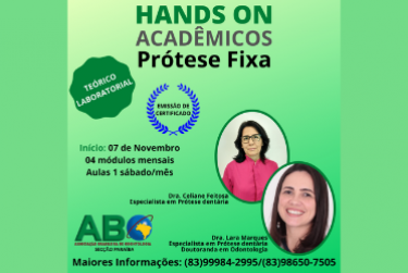 HANDS ON PARA ACADÊMICOS - PRÓTESE FIXA